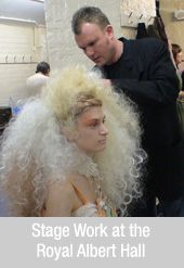 Clive Boon, Boons Hair, stage work at The Royal Albert Hall
